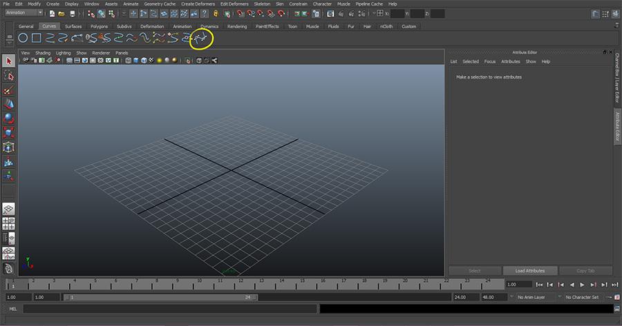 Maya-Select-Bezier-Curve-Tool
