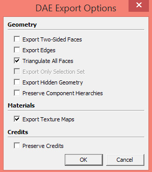 Sketchup-COLLADA-dae-Export-Options