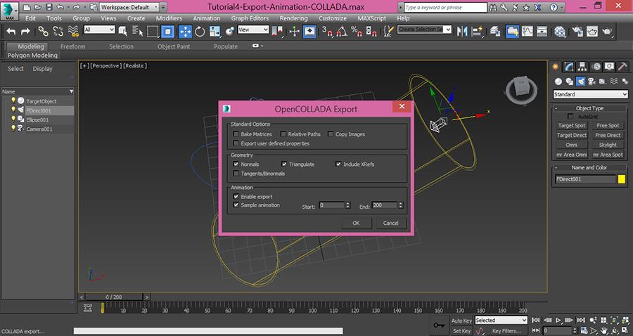 3dsMax-Export-OpenCollada-Collada-Format