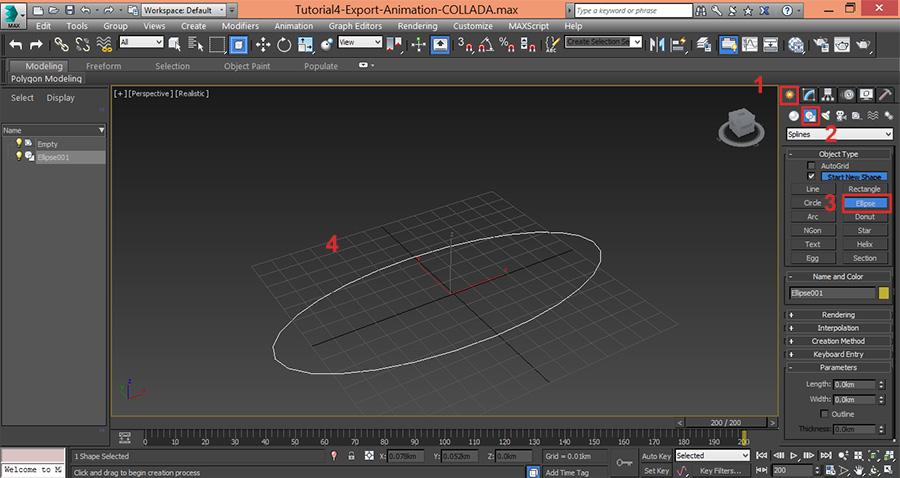 3dsMax-Creat-Ellipse-Path