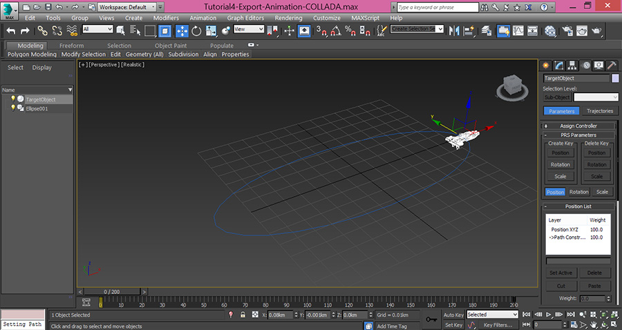 3dsMax-Object-Attached-to-Path