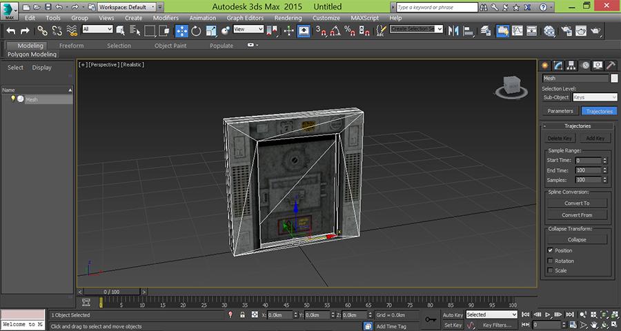 3dsMax-Open-Door-Model