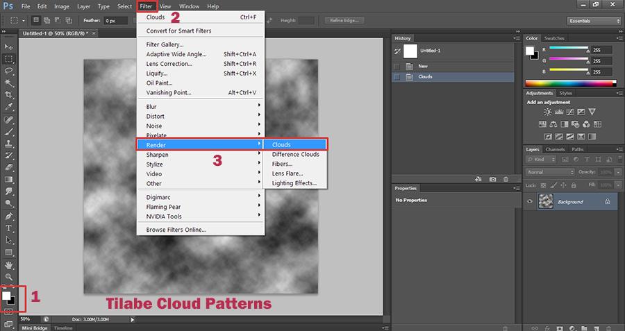 Photoshop-Filter-Tileable-Cloud-Patterns