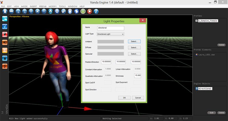 Vanda-Engine-Insert-3D-Character-Add-Directional-Light