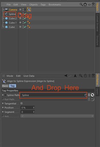 Cinema4D-C4D-Drag-Splie-Drop-Spline-Path