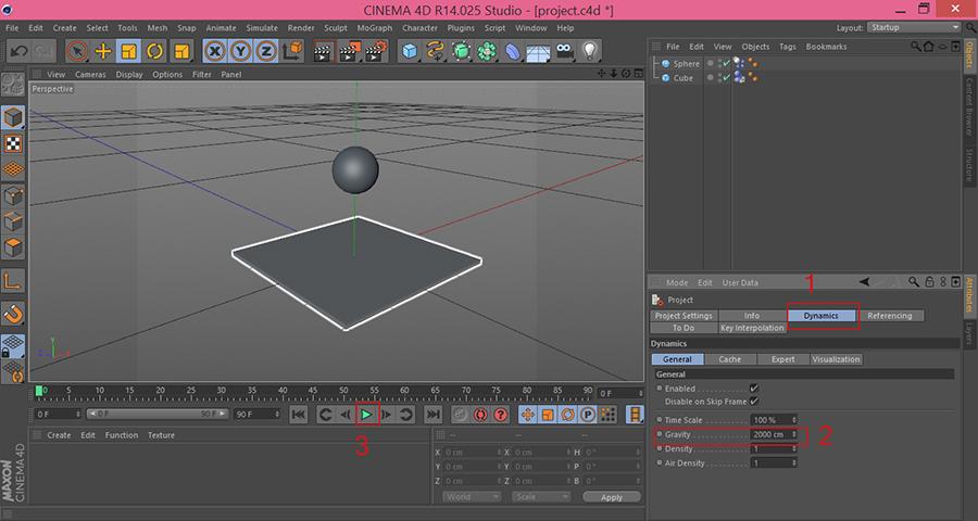 Cinema4D-Project-Settings-Dynamics-Gravity